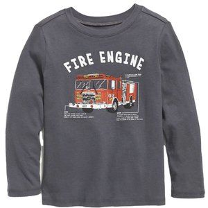 Old Navy LS Graphic T for Toddler. Fire Engine.
